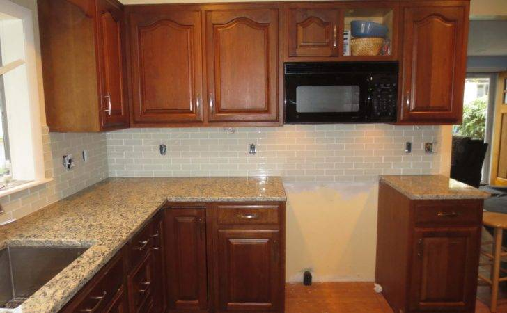 Glass Tile Edge Examples Subway Outlet Thumb Vapor Kitchen