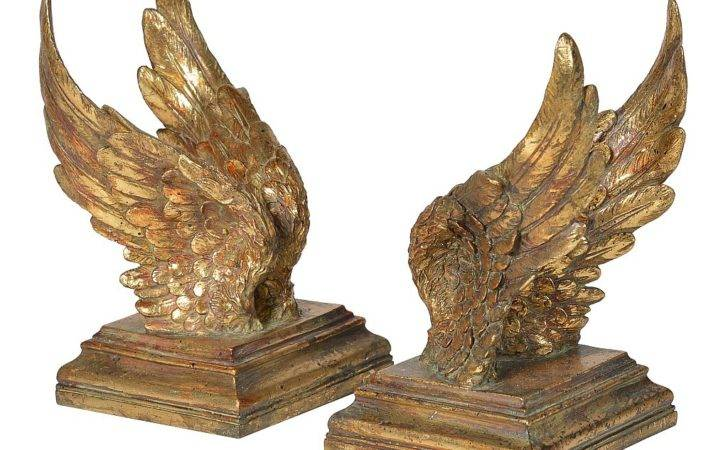 Golden Wing Bookends Audenza