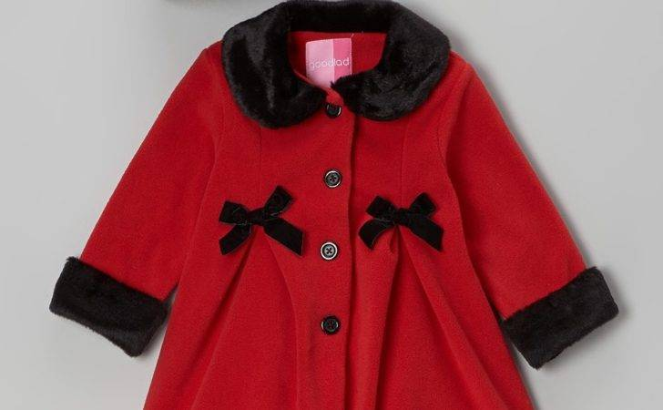 Good Lad Red Black Bow Coat Hat Kids Zulily