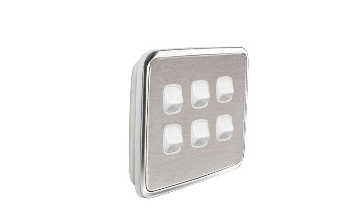 Gooden Hole Light Switch Cover Plate Brushed Stainless