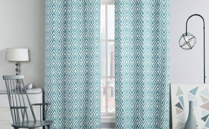 Graceful Geometric Curtain Panel Design Concept