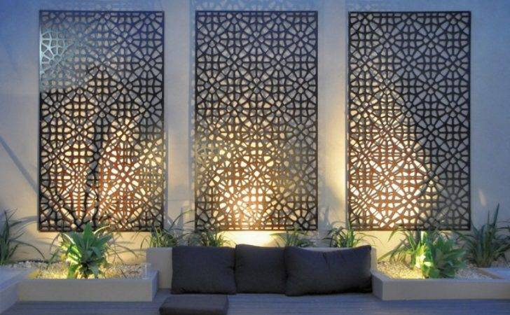 Grail Outdoor Screen Wall Art Contemporary