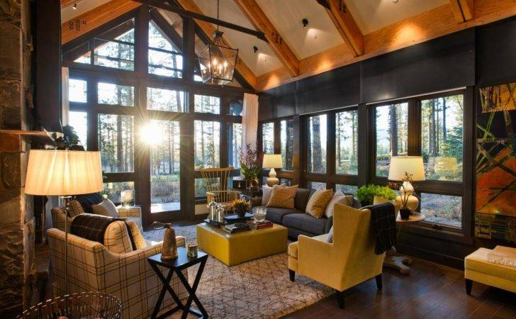 Grand Frame Living Room Forest Views