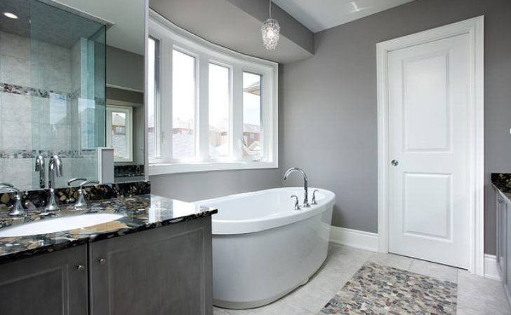 Gray Bathroom Contemporary Toronto