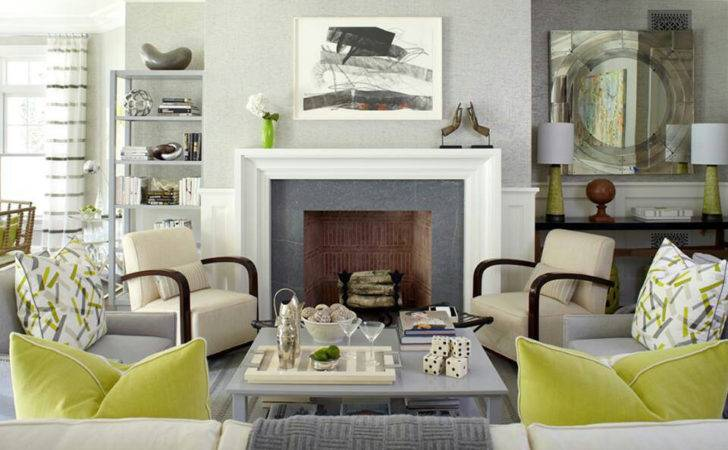 Gray Green Contemporary Decor Living Room Just Decorate