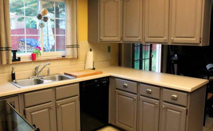 Gray Painted Kitchen Cabinets Dark