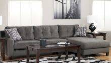 Gray Shaped Leather Sectional Sofa Small Living Room