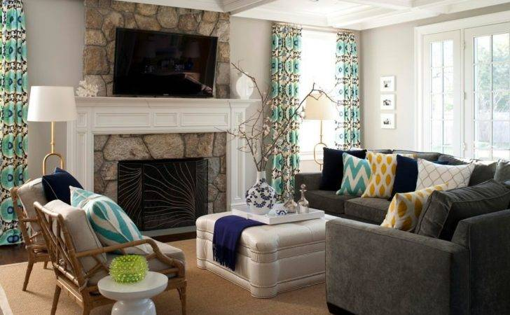 Gray Sofa Living Room Designs Decorating Ideas