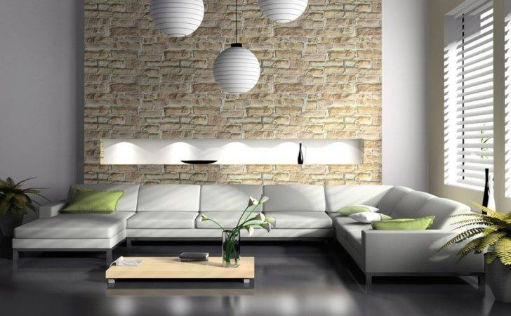 Gray Walls White Sofa Living Room House