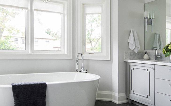 Gray White Bathroom Ideas Transitional