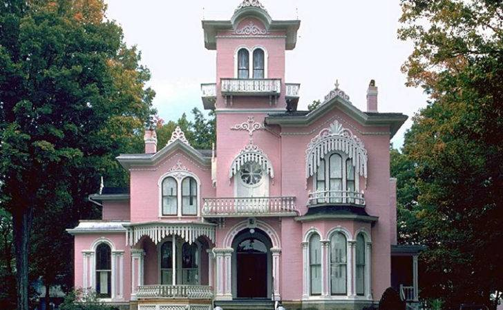 Great House Interior Pink