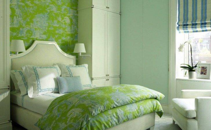 Green Blue Bedrooms Contemporary Girl Room