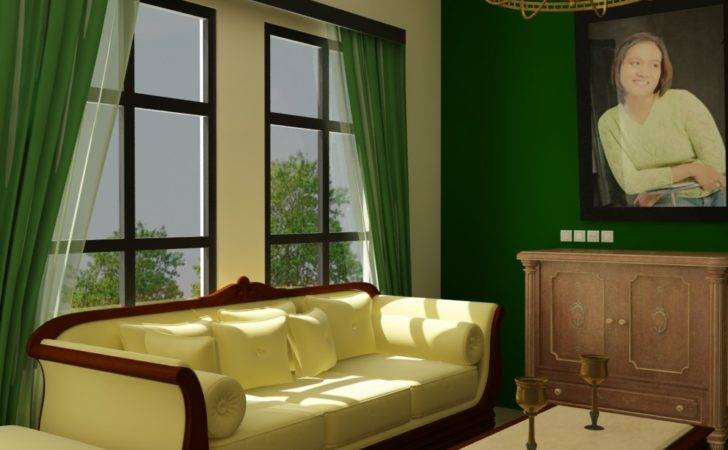 Green Red Room Decorations Living Ideas