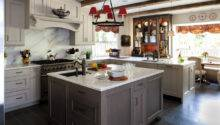 Grey Country Kitchen Traditional Metro