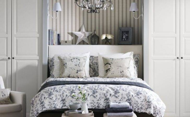Grey Floral Bedroom Country Decorating Ideas