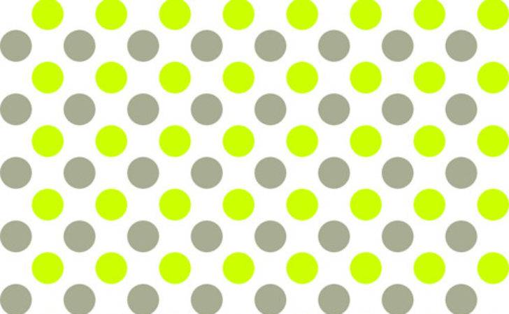 Grey Lime Green Spots