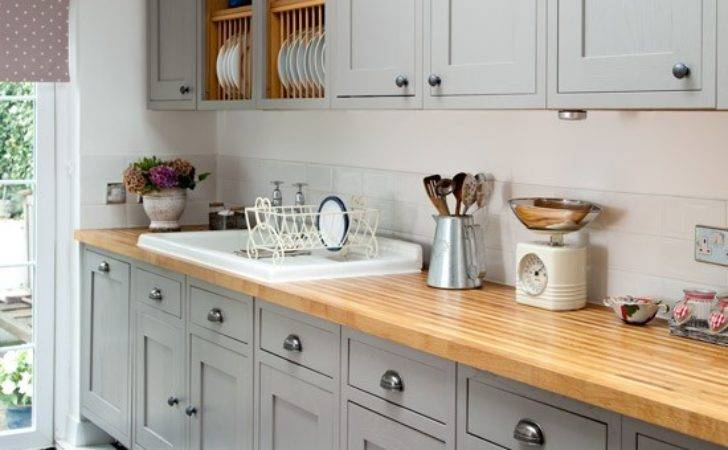 Grey Painted Kitchen Wall Base Units Makeover