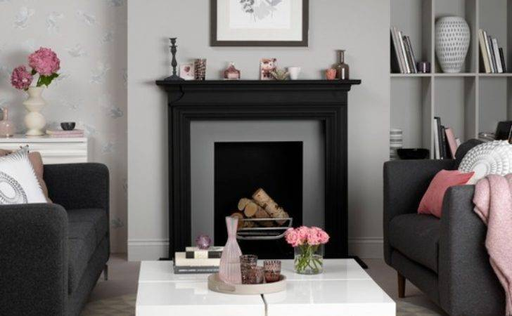 Grey Pink Living Room Decorate
