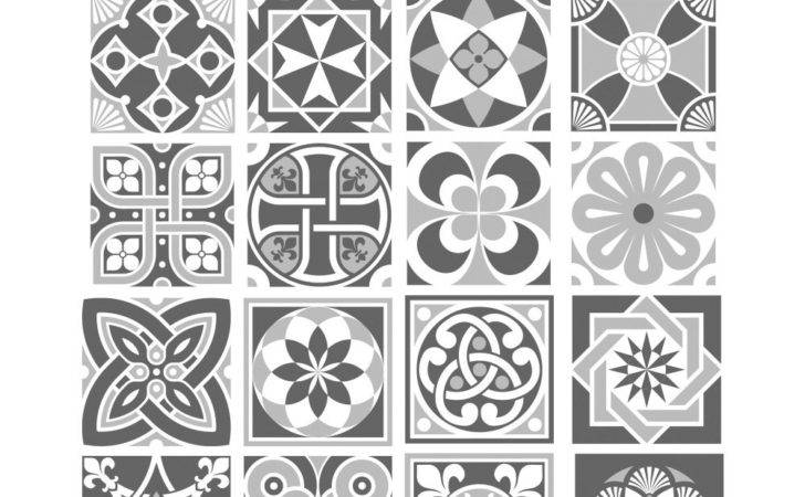 Grey Scale Tile Stickers