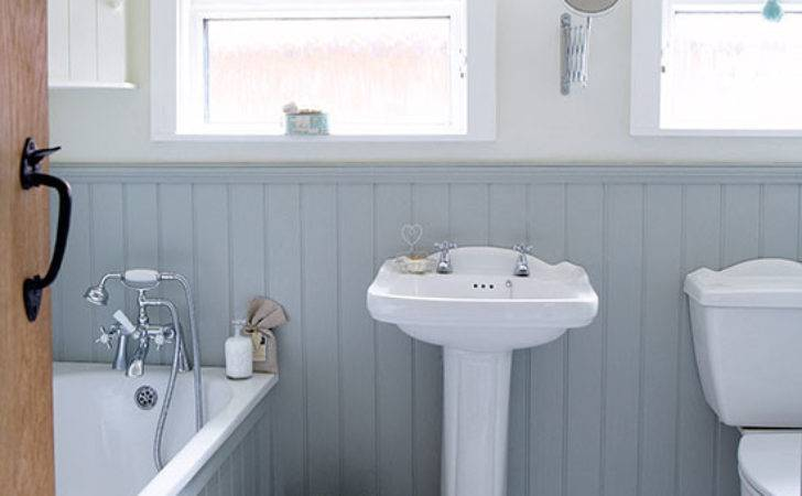 Grey White Country Bathroom Wall Panels