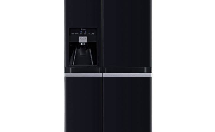 Gsl Wbqv American Style Fridge Freezer Black