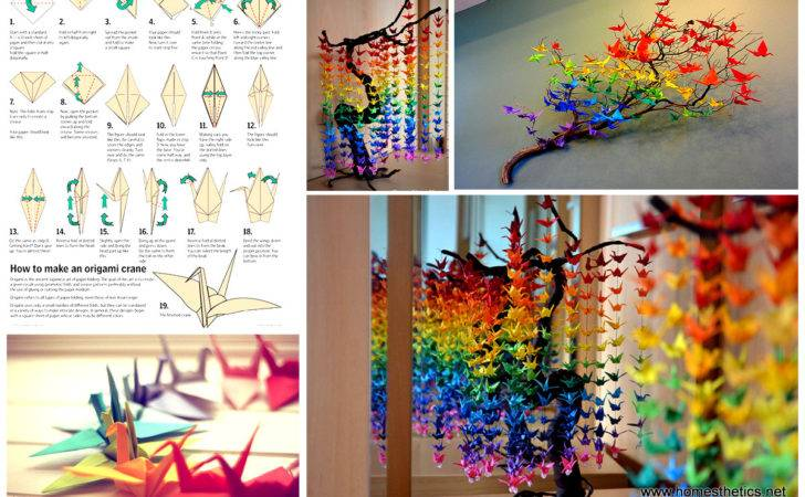 Guide Create Colorful Rainbow Diy Crane