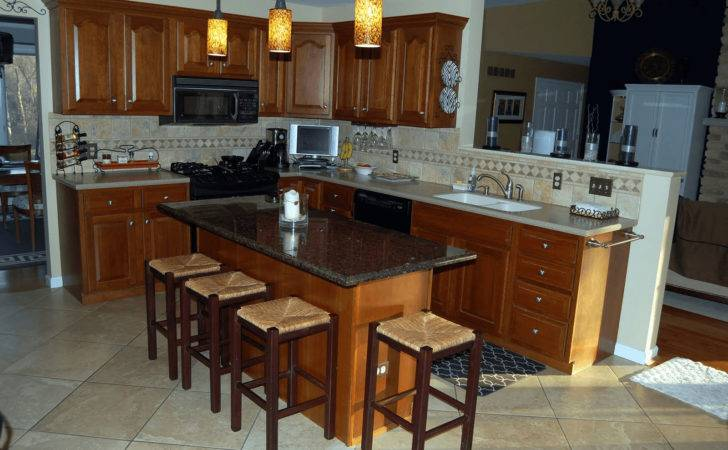 Guide Kitchen Island Breakfast Bar Granite Top
