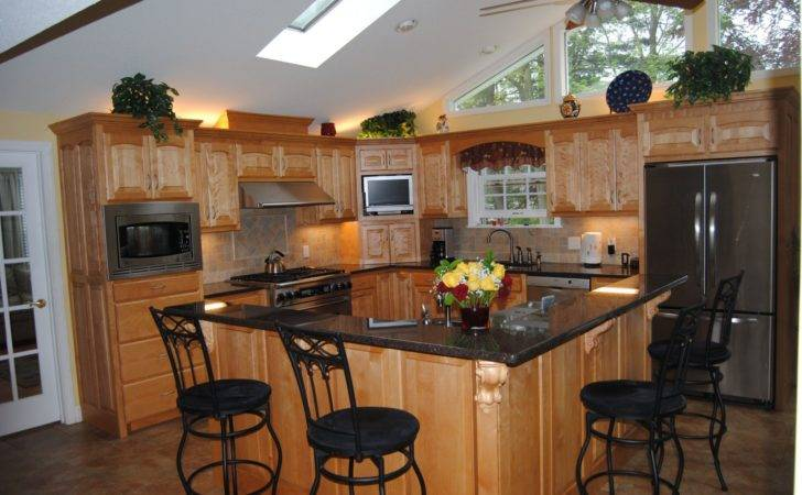 Guides Apply Shaped Kitchen Island All