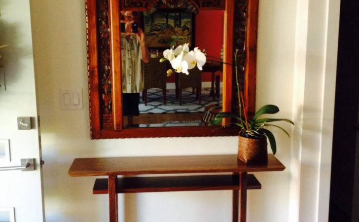 Hall Table Tall Narrow Side Console Small