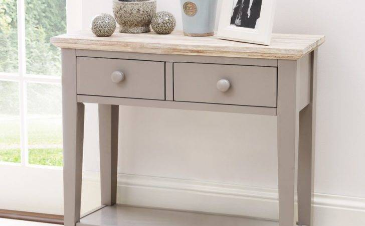 Hallway Furniture Gray Narrow Console Table