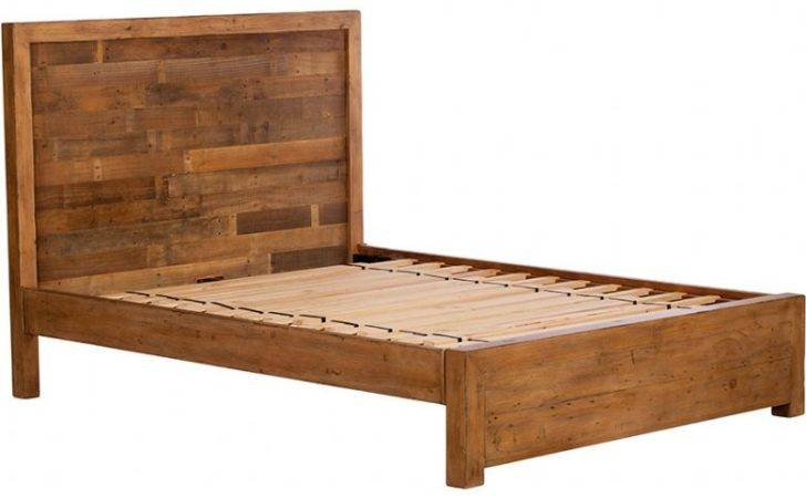 Halstein Super King Reclaimed Low Foot End Bed