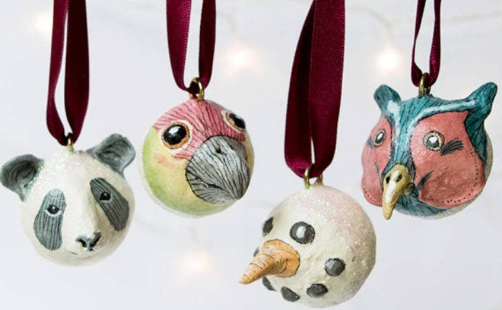 Hand Crafted Small Christmas Tree Ornamental Baubles