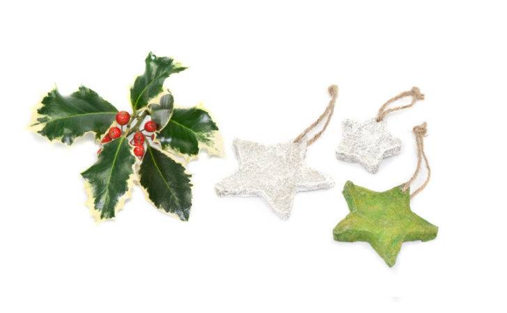 Hand Made Paper Stone Christmas Decorations Group