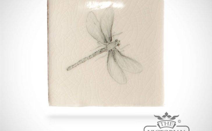Hand Painted Tile Dragonfly