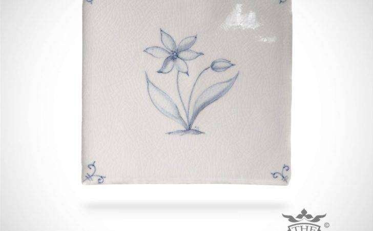 Hand Painted Tile Wildflower