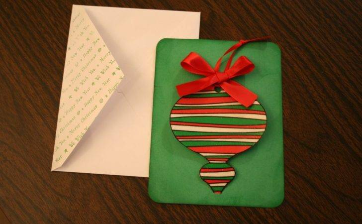 Handmade Christmas Cards Removable Ornament Chica