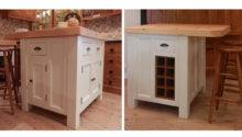 Handmade Solid Wood Island Units Freestanding Kitchen