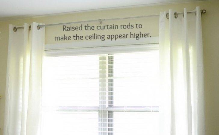 Hang Curtain Rods Ceiling Eyelet