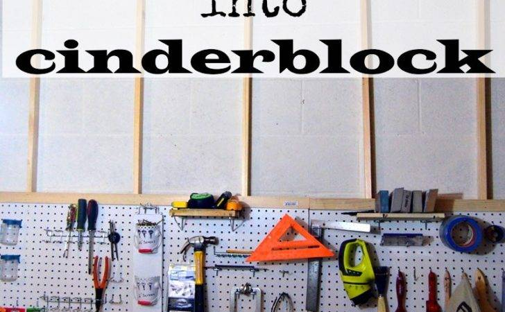 Hang Pegboard Without Drilling Into Cinder Block