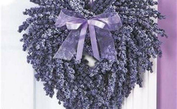 Heart Wreath Made Dried Lavender