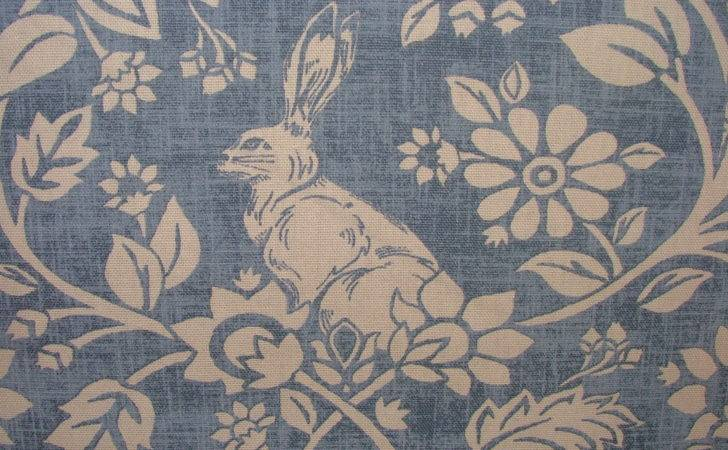 Heathland Hares Game Birds Indigo Cotton Designer