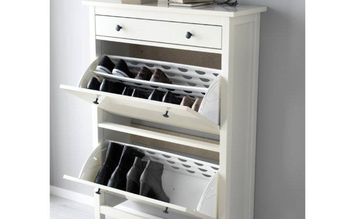 Hemnes Shoe Cabinet Compartments White Ikea