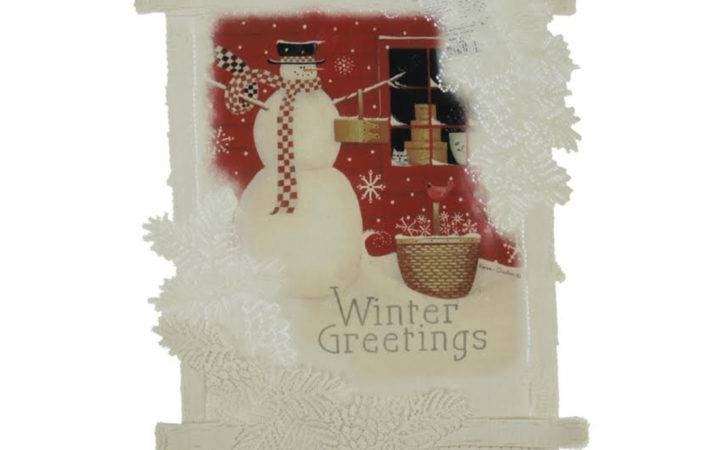 Heritage Lace Country Rustic Winter Greetings
