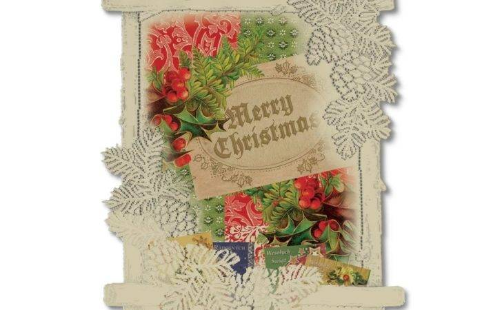 Heritage Lace Holly Christmas Card Holder Wall Hanging