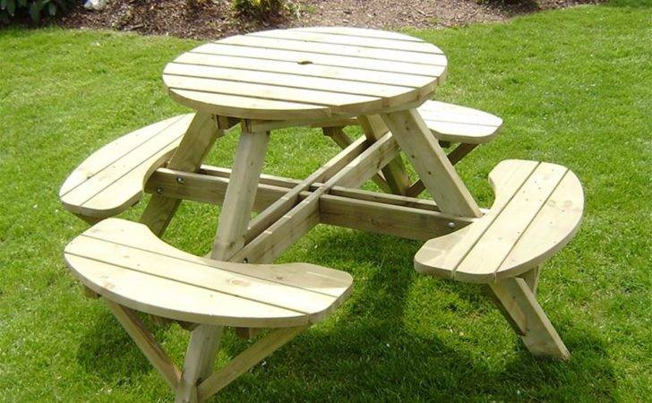 Heritage Seat Round Wooden Picnic Table Internet