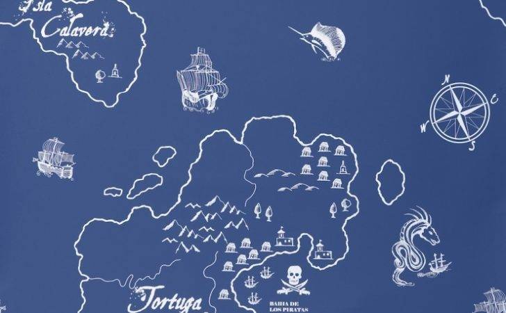 Hibou Home Pirates Seas Next Day Delivery Samples