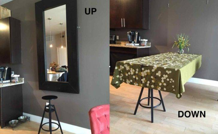 Hideaway Dining Table Using Ikea Mirror Hackers