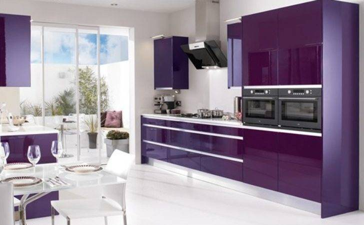 High Gloss Kitchen Designs Bold Color Choices Home
