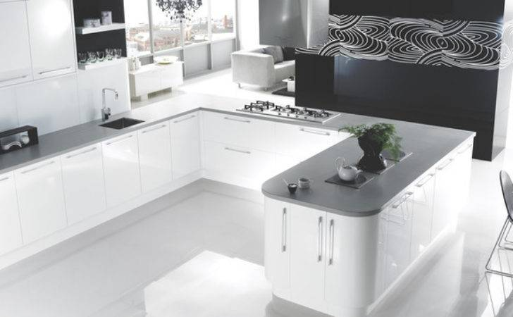 High Gloss White Kitchen Contemporary Other