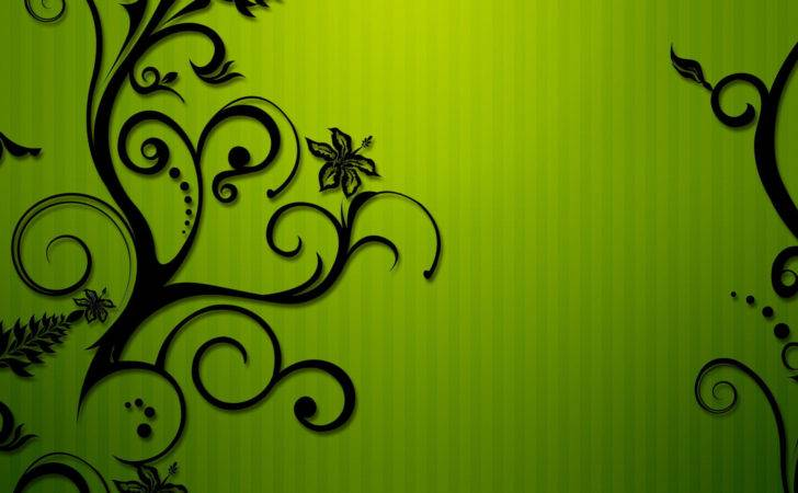 High Res Beautiful Green Floral Patterns